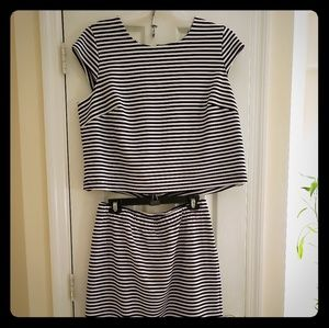 Cato stripe crop top18/20. Tags removed never worn